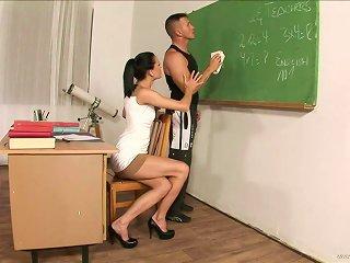 Horny Teacher Fucks The School Cleaner After Class