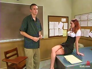 Bad High School Student Gets A Harsh Punishment By A Dominatrix Teacher!