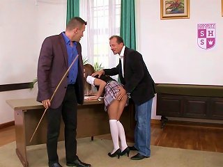 Ravishing Anal Trio With A Horny Schoolgirl
