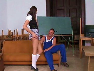 Busty Teen Loves To Fuck With The Repair Guy