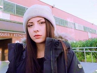 Italian Seductress Rebecca Volpetti Sucking A Dick At School